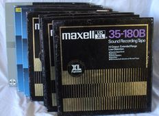 Lot of 7 Maxell tapes for reel to reel recorder (26cm / 10,5 inch) Metal reel