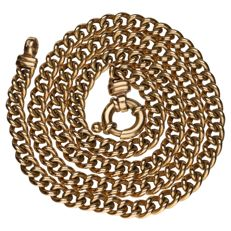 14 kt yellow gold curb link necklace, length: 51 cm
