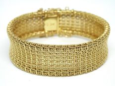 Woven gold bracelet, around 1930-1940