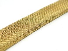 Woven gold bracelet, around 1930-1940.