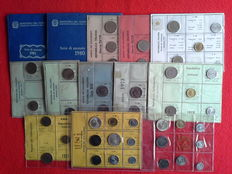Republic of Italy, 1969-1981—Lot of 13 divisional series (including silver coins)