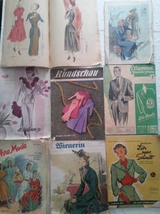 Sewing and fashion catalogues - 1940-1950s.