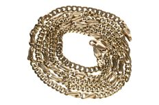 14 kt yellow gold figaro necklace