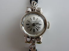 Zodiac women's watch from the 1940s, in white gold.