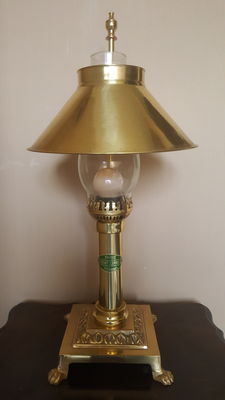 Table lamp Orient express - brass/copper - 2nd half of 20th century