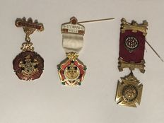 Collection of 3 rare Masonic medals