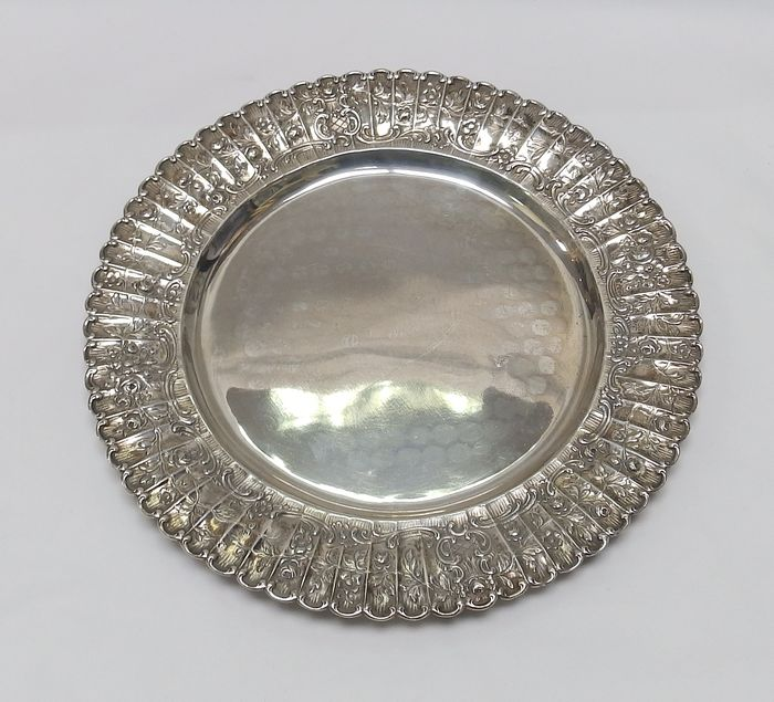 Round silver centrepiece, Germany, 20th century.