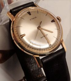 Etnor Swiss-made men's wristwatch from the 60s.