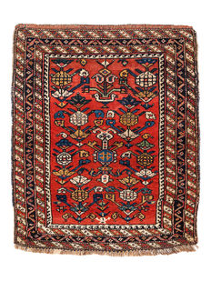 Antique Luri carpet from Iran, 104 x 87 cm