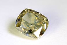 Diamond - 1.60 ct - Fancy Greyish Yellow - SI2 - No reserve price