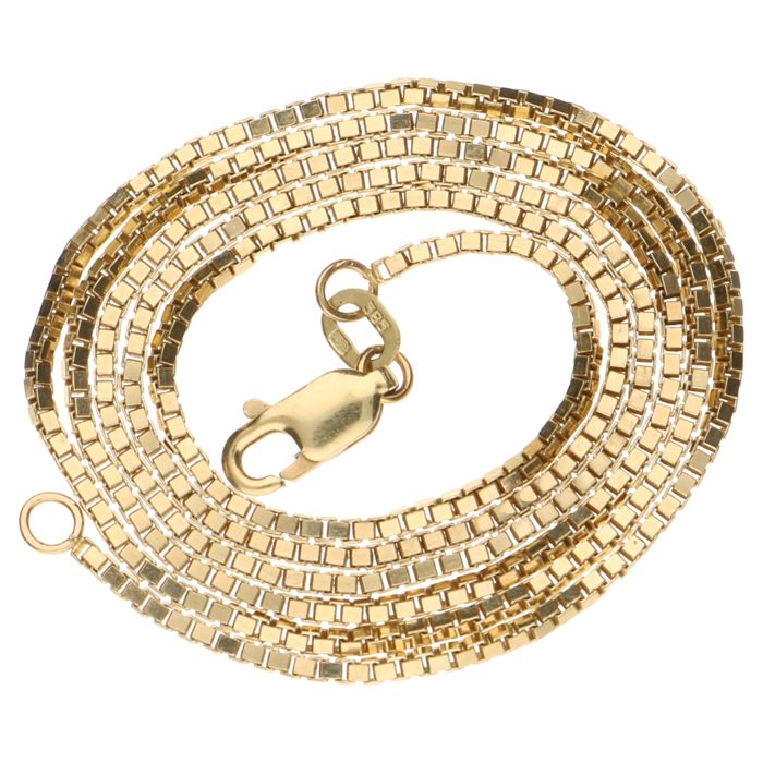 Yellow gold Venetian link necklace 14 kt - 50 cm