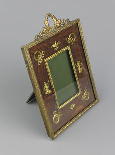 Gold-plated brass photo frame in Empire style - France - ca. 1900