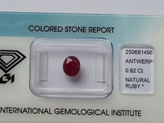 Ruby - 0.82 ct – No Reserve Price
