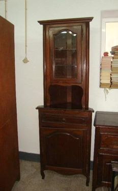 A Mahogany Rustic Style Corner Cabinet, 50's/60's