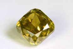 Diamond – 0.61 ct – Fancy Greenish Yellow – SI 1 – without a reserve price