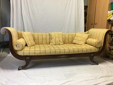 Sofa in mahogany, Regency period - England - circa 1820