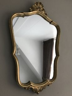 Beautiful gilded crest mirror