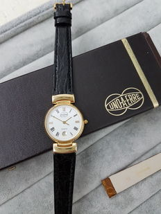 UNOAERRE – New 18 kt gold watch with crocodile leather strap