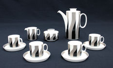 Rosenthal - Mocha/espresso set for 4 persons model Polygon, decor Melos by Tapio Wirkkala