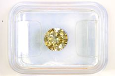 Diamond of 1.02 ct in sealed GIL certificate - Fancy Greyish Yellow - I2