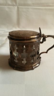 Silver musterd pot - Edward, John & William Barnard, Londen, 1851/1852 - with duty mark