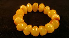 Genuine Royal Baltic amber bracelet, 45 grams