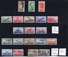 Italy 1934, composition seals Michel nrs 459/519 incl. Airmail.