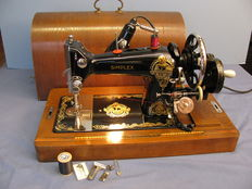Vintage Simplex hand sewing machine with lights, The Netherlands, first half 20th century