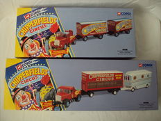 """Corgi - Scale 1/50 - 2 sets Vehicles -  """"Chipperfields Circus"""""""