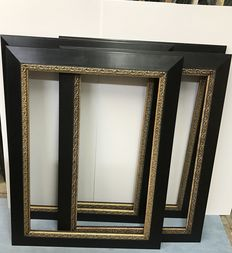 Four large Frames in Black and Gold, Italy, second half 20th century
