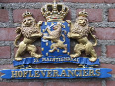 Original. P.T.T. Mail coat of arms je maintiendrai royal warrant of appointment - Beginning 20th century.