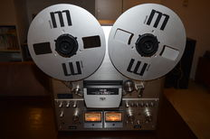 Akai GX-630DB 26 cm Tape Deck with original Akai adapters and Maxell reels