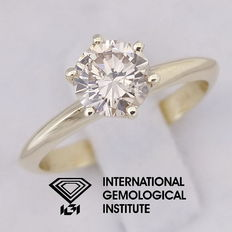 IGI 0.80 ct Round Brilliant Cut Diamond Engagement Solitaire Ring ***Free Resize***