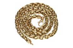14 kt yellow gold fox tail necklace