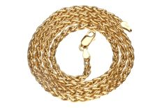 Yellow gold foxtail necklace in 14 kt - Length: 45 cm