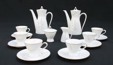 Rosenthal - Mocha/espresso set for 6 persons model Form 2000, designed by Richard S. Latham / Raymond Loewy, decor aren