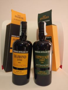 Rum Diamond 1999 SVW & Uitvlugt 1997 ULR - Bottled in 2014 by Velier