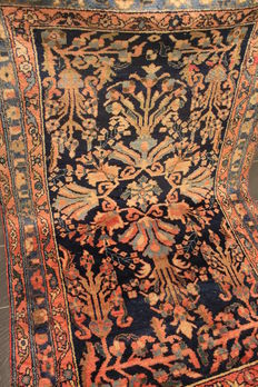 100 years antique hand-knotted art nouveau Persian carpet American US Lilian Sarough Saruk Made in Iran 130x220cm