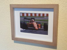 Nigel Mansell - Ex-formula 1 world champion - original autographed framed Monaco photo + COA.