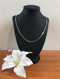 Silver rhodium-treated necklace, 925.