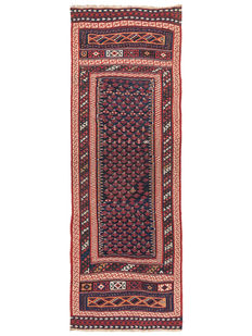 Antique Bachtari Kilim from Iran - Circa 1900 - 377 x 128 cm