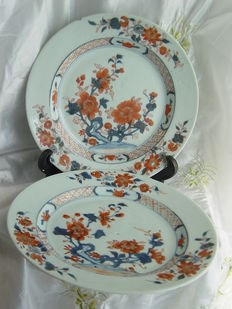 Two export porcelain Imari Qionlong dishes – China –18th century