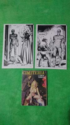 Panerai, Marco - 2x original pages + comic album - Cimiteria - (1978)