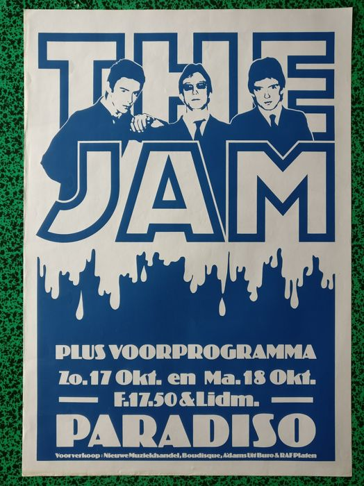 The Jam - silkscreened poster Paradiso 1978