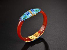 Cloisonne Bracelet weighs 35.5 grams
