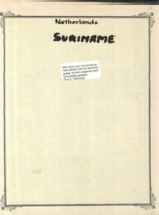 Surinam, Collection with first day envelopes