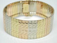 Tricolour gold bracelet, around 1930-1940.