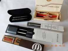 5 pen sets, consisting of: 3 x Parker 1 x Waterman 1 x Pierre Cardin, from the 1980 's