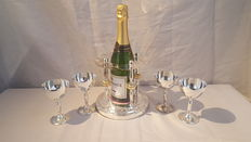 Champagne Set - Support with 5 beautiful cups