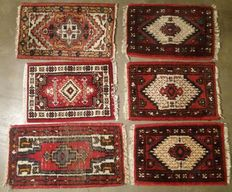 Lot of 6 oriental, hand-knotted rugs, 20th century
